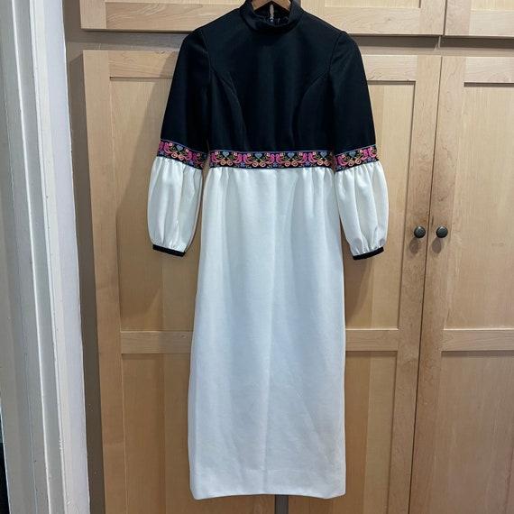 Vintage 60s Maxi Dress FAIRYCORE Clothing Hippie … - image 8