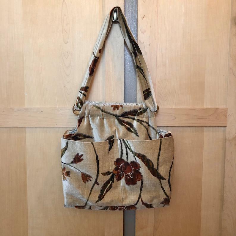Vintage Velvet Handbag Reversible Purse Floral Hippie Bag image 0