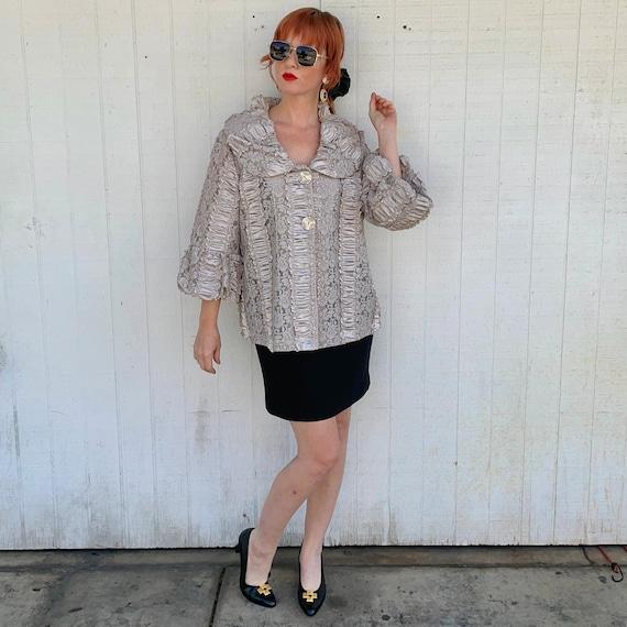 Vintage Cottagecore Jacket Fairycore Clothing Rom… - image 2