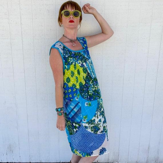 Vintage Patchwork House Dress CottageCore Clothin… - image 6