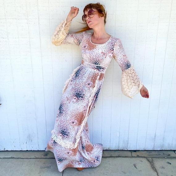 Vintage Fairycore Prairie Dress Cottagecore Cloth… - image 3
