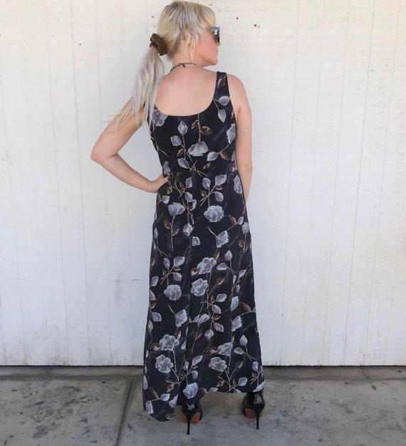 90s Vintage Sleeveless Cottagecore Dress Grunge F… - image 5