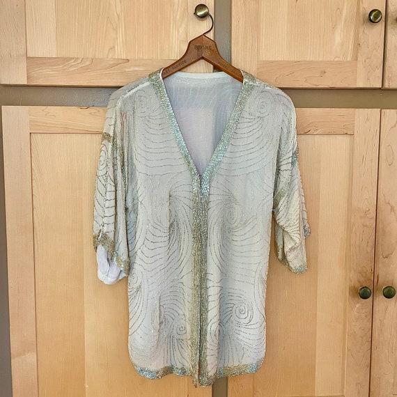 Vintage Sequin Kimono Sequined Jacket Flapper Cost