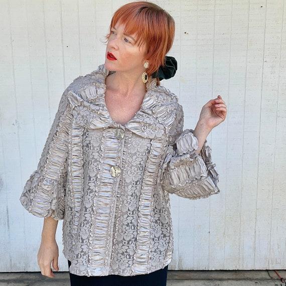 Vintage Cottagecore Jacket Fairycore Clothing Rom… - image 3