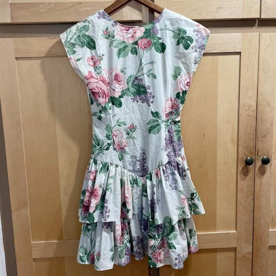 Vintage Cottagecore Mini Dress Grunge Fairycore C… - image 6