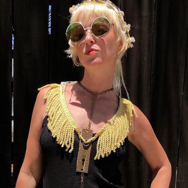 Shoulder Epaulettes Unique Body Chain Burning Man Outfit image 0