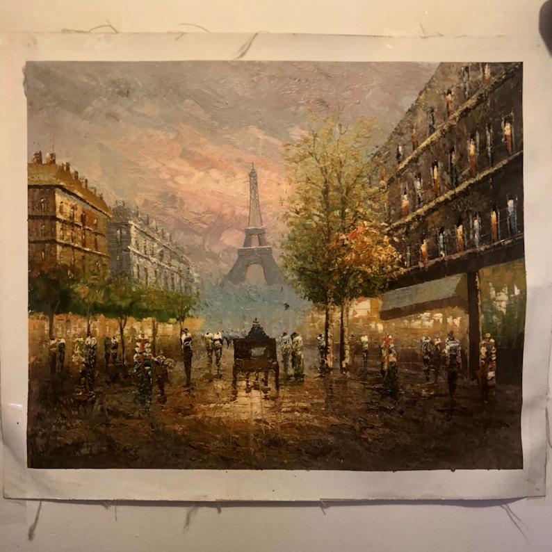 Eiffel Tower Paris Oil Painting Wall Art image 0