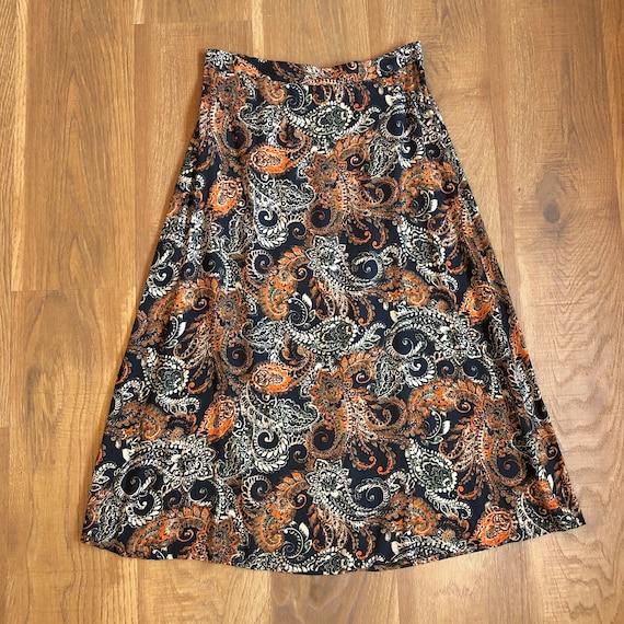 Vintage 90s Cottagecore Prairie Midi Skirt 1990s C