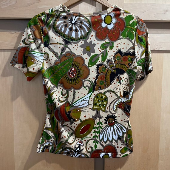 Vintage Fairycore Shirt 1970s Top Butterflies But… - image 6