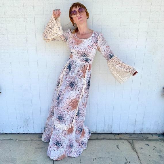Vintage Fairycore Prairie Dress Cottagecore Cloth… - image 2