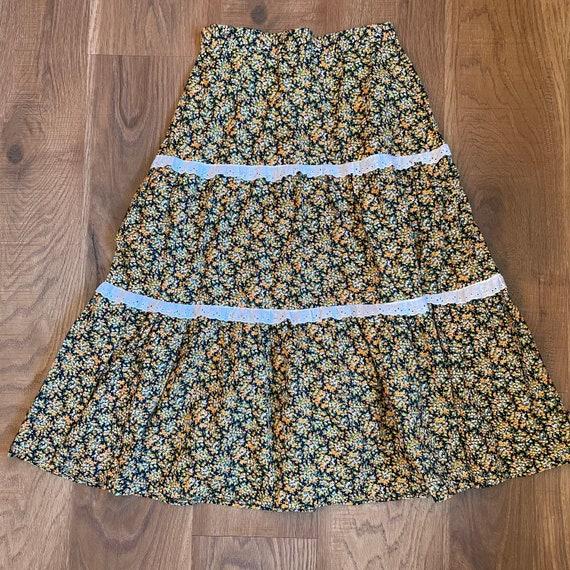 Vintage Prairie Skirt Cottagecore Clothing 70s Hi… - image 4