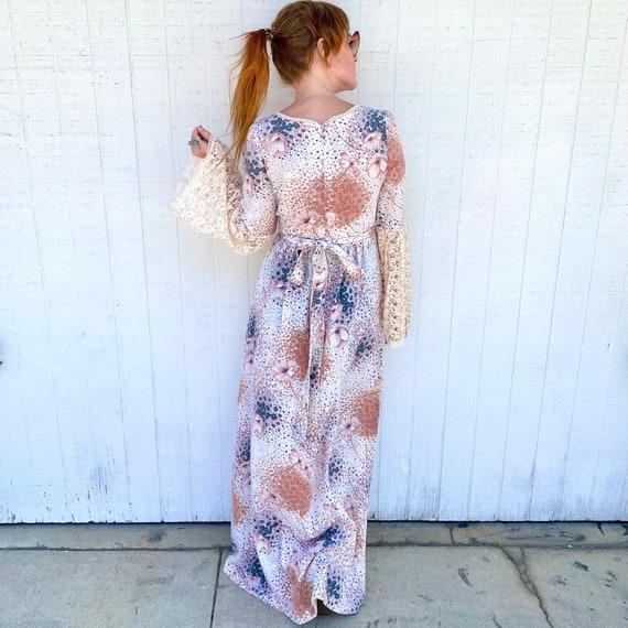Vintage Fairycore Prairie Dress Cottagecore Cloth… - image 8