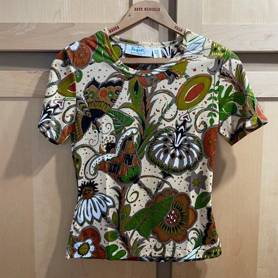Vintage Fairycore Shirt 1970s Top Butterflies But… - image 5