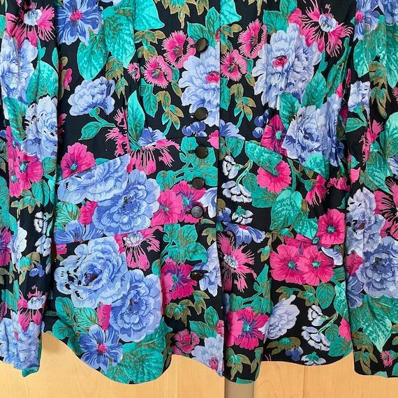 Cottagecore Vintage Floral Jacket Fairycore Cloth… - image 8