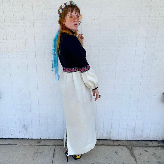 Vintage 60s Maxi Dress FAIRYCORE Clothing Hippie … - image 2