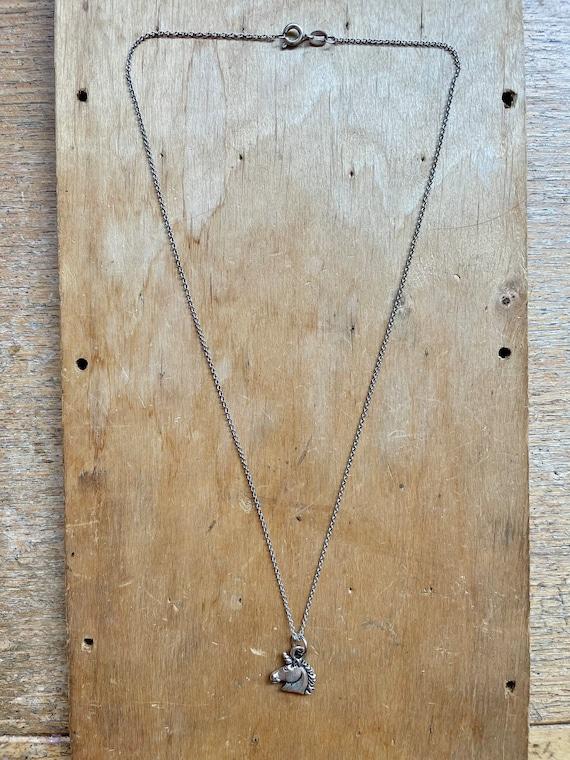 Small Unicorn Necklace Fairycore Jewelry Whimsica… - image 3