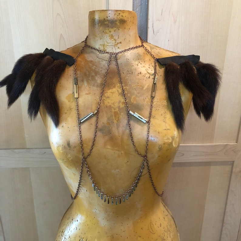 Festival Body Chain Shoulder Necklace Burning Man Costumes image 0