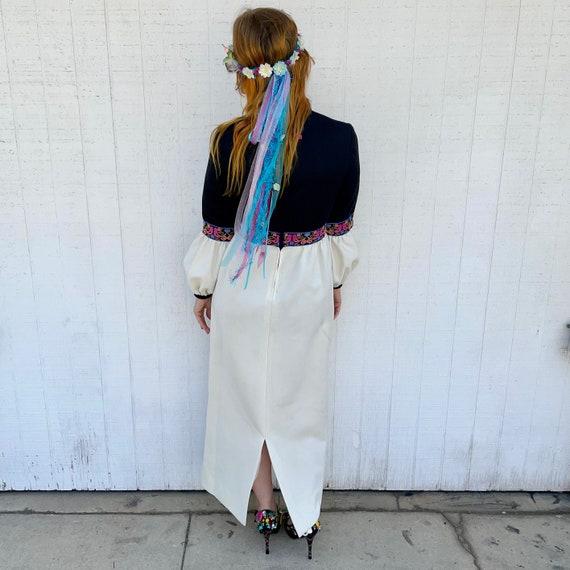 Vintage 60s Maxi Dress FAIRYCORE Clothing Hippie … - image 6