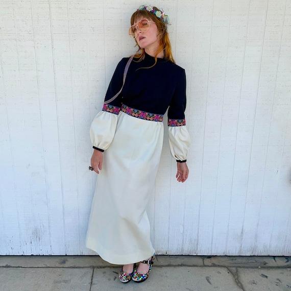 Vintage 60s Maxi Dress FAIRYCORE Clothing Hippie … - image 1