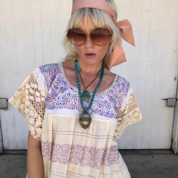 Long Light Pink Head Scarf Fairycore Feminine Vin… - image 3