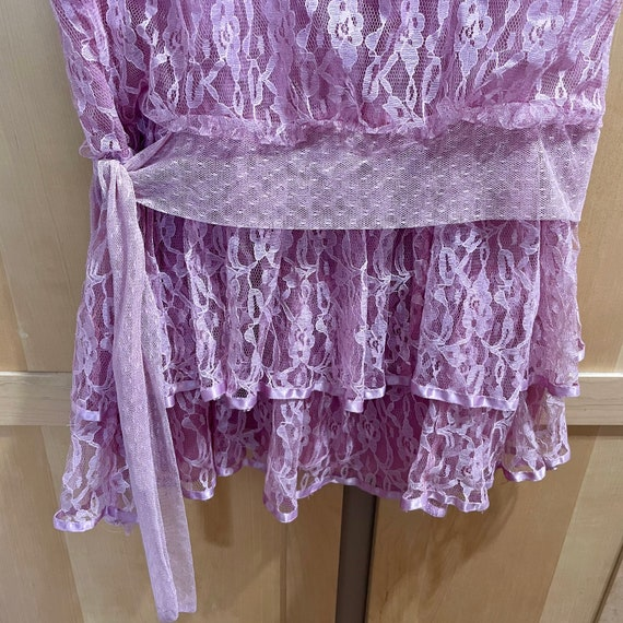 Vintage Pink Lace Dress Fairycore Clothing 1980s … - image 5