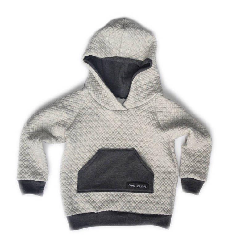 eccad27d Gender Neutral Quilted Hooded Sweatshirt Kids Hoodie | Etsy