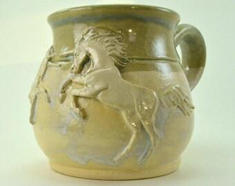 Duelling Unicorns Mug