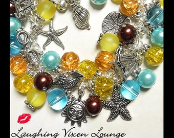 Beach Jewelry - Ocean Jewelry - Beach Bracelet - Ocean Necklace - Beach Necklace - Ocean Charm Bracelet - A Day At The Shore Full
