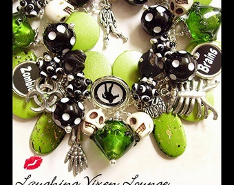 Zombie Jewelry - Zombie Necklace - Zombie Bracelet Extreme Charm Bracelet - Horror Jewelry - Horror Bracelet - Horror Necklace