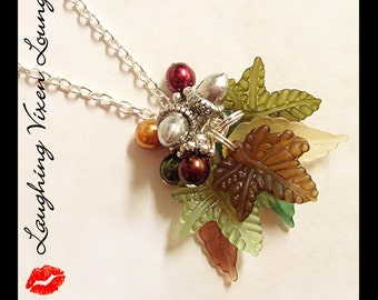 Fall Necklace - Fall Jewelry - Autumn Jewelry - A Tree In Autumn Necklace - Leaf Necklace - Leaf Jewelry - Thanksgiving Jewelry