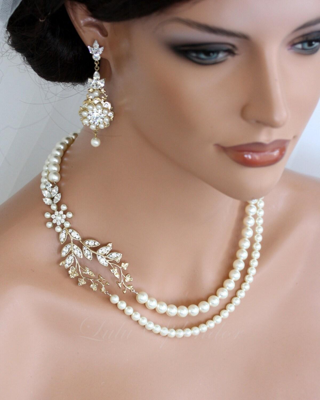 Unique Wedding Dresses Au: Mariage Collier De Perles Vigne Feuille Or Pendentif