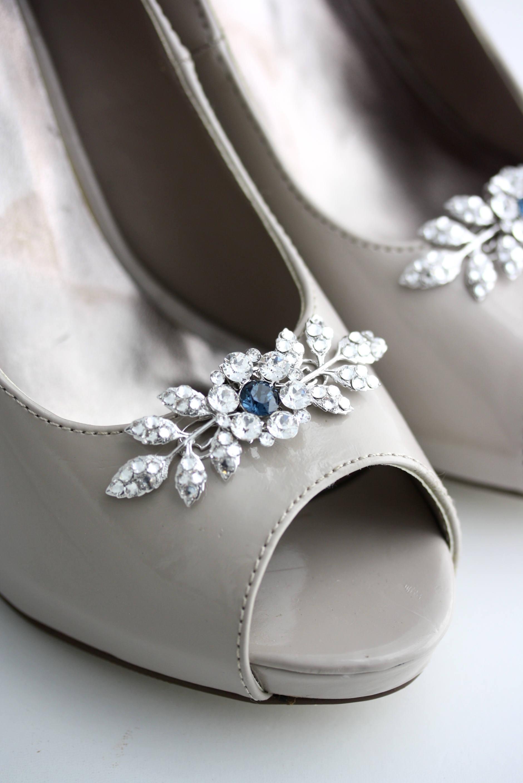 Shoe clips Wedding Shoe Clips Color Crystal Shoe Clips Custom Color Clips Something Blue Bridal Shoe Clips Leaf Shoe Clips Custom Shoe Clips MACY 8ca18e