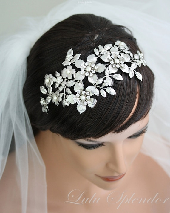 Wedding Hairstyle Crown: Bridal Flower Crown Wedding Hair Accessories Wedding