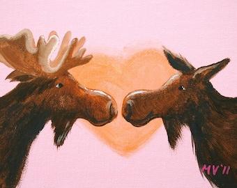 I Love My Moose PRINT 11x15