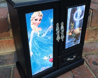 Disney Frozen Jewelry Box, Queen Elsa Princess Anna  Disney inspired One of a kind treasure