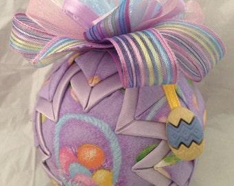 Easter Basket Easter Egg Handmade Quilted Star Ornament