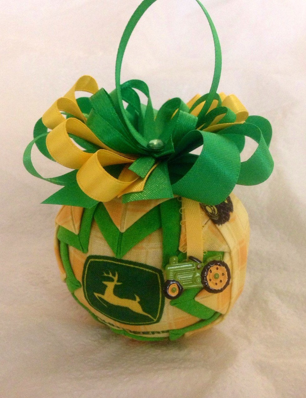 John Deere Inspired Ornament Quilted Christmas Ornament | Etsy