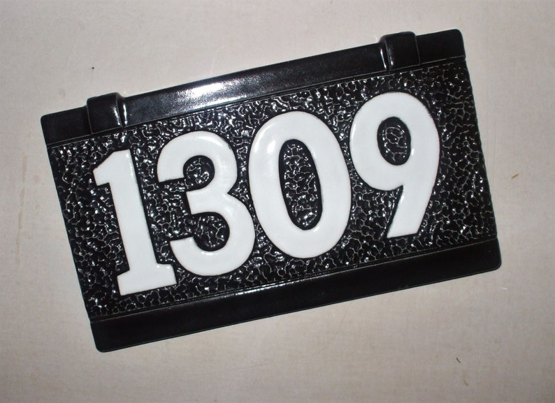 1309 Black White House Adresse Nummer Plaque Fur Lamp Post Etsy
