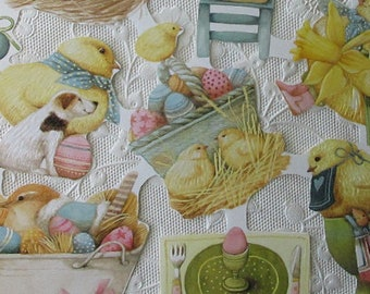 Vintage Mouse England Paper Lithographed Die Cut Scraps Easter Scrap Marjolein Bastin Out Of Print  MLP 1900