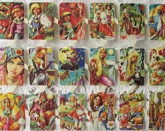 18 Spain Vintage Fairy Tales Scraps Die Cut Paper Characters Scrap Out Of Print   S-003