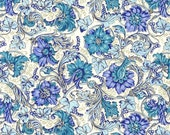 2 Sheets Italy Authentic Florentine Italian Paper Blue Flowers By Rossi IPR116 x2