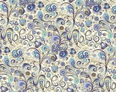 2 Sheets Blue Nouveau Swirled Florentine Print Italian Paper Rossi Italy IPR200B x2