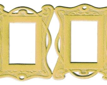 545d0b88c32 2 Germany Art Nouveau Deeply Embossed Gold Paper Foil Dresden Frame DFW503G
