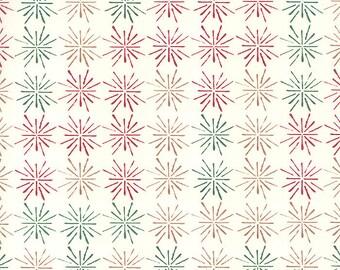 Stylized Stars Modern Christmas Print Italian Paper Tassotti Italy IPT652