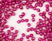 60 Czech Glass Christmas Garland Beads 6mm Hot Pink GBR6HP x2