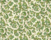 2 Sheets Traditional Florentine Print Paper in Greens Italy Italy IPR134GR x2