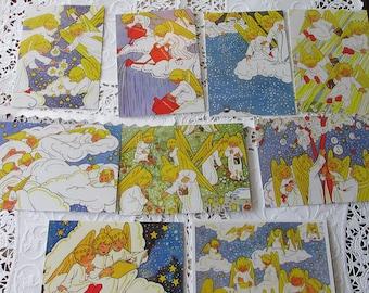 2563cd0bfa Holland 9 Vintage Style Rie Cramer Christmas Angel Angels Postcards Nine  Assorted Cards Netherlands  H