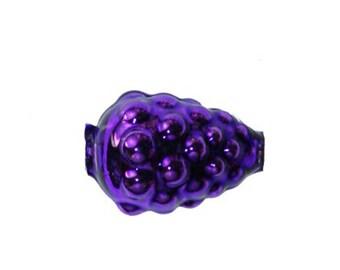 Mercury Glass Beads 3 Fancy Christmas Garland Purple Raspberry Beads Czech Republic  GB052RP