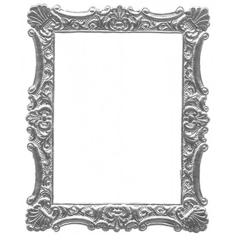 7945f4303a8 2 Frames Germany Deeply Embossed Silver Paper Foil Large