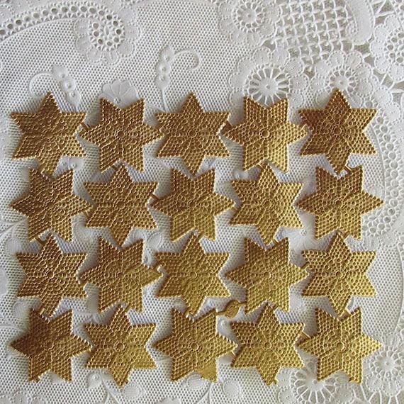 Scrap Diecut German Dresden Silver Foil Paper Stars Victorian Crafts
